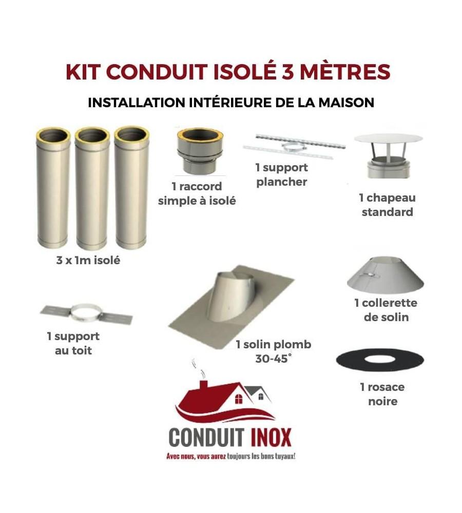 KIT CONDUIT ISOLE EN INTERIEUR - 3 MÈTRES à 569,20€ fabriqué par JEREMIAS