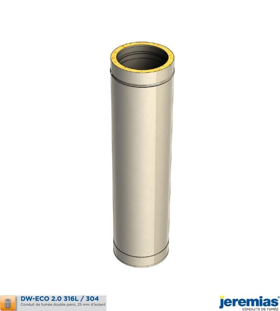 ELEMENT DROIT 500MM - ISOLE INOX à 52,30€ fabriqué par JEREMIAS