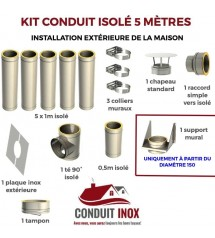 KIT CONDUIT ISOLE EN EXTERIEUR - 5 MÈTRES à 808,30€ fabriqué par JEREMIAS
