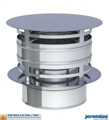 CHAPEAU ANTI PLUIE AVEC PROTECTION VENT - ISOLE INOX à 73,40€ fabriqué par JEREMIAS