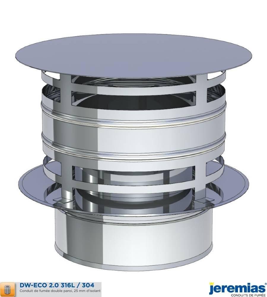 CHAPEAU ANTI PLUIE AVEC PROTECTION VENT - ISOLE INOX à 69,10€ fabriqué par JEREMIAS