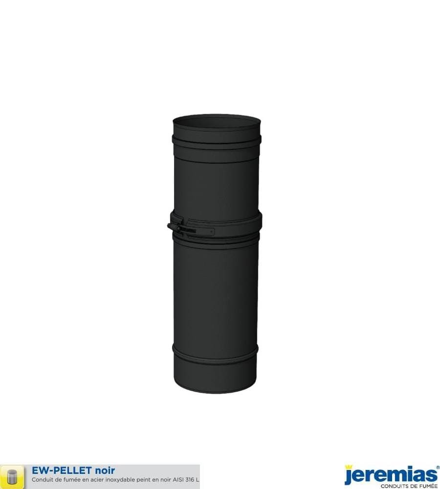 ELEMENT DROIT REGLABLE 4000 A 560MM - INOX 316 NOIR à 41,70€ fabriqué par JEREMIAS