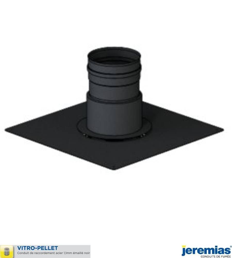 PLAQUE DE FINITION POUR TUBAGE RIGIDE INOX - ACIER EMAILLE NOIR à 71,10€ fabriqué par JEREMIAS