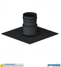 PLAQUE DE FINITION POUR TUBAGE FLEXIBLE - ACIER EMAILLE NOIR à 71,10€ fabriqué par JEREMIAS
